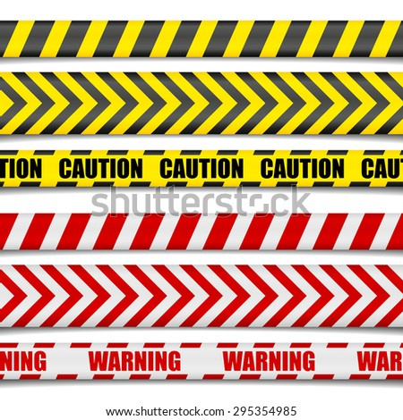 detailed illustration of Caution Lines, eps10 vector - stock vector