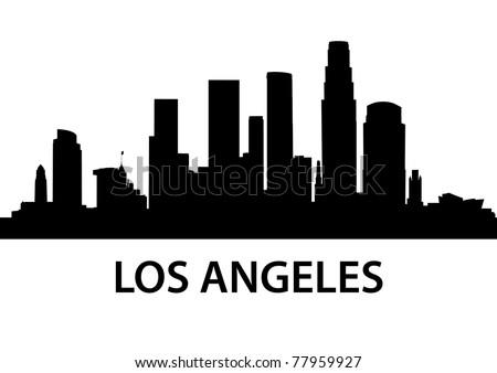 detailed illustration of Los Angeles, California - stock vector