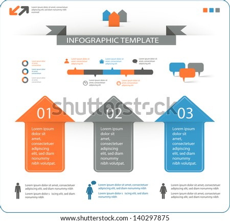 detailed infographic elements set with options eps10 - stock vector