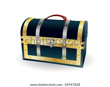 detailed isolated trunk - stock vector