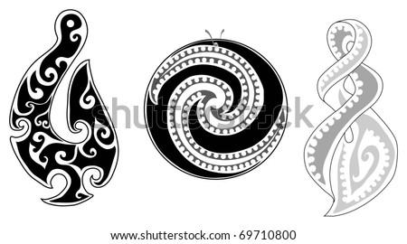 detailed maori koru fern eternity twist stock vector 69710800 shutterstock. Black Bedroom Furniture Sets. Home Design Ideas