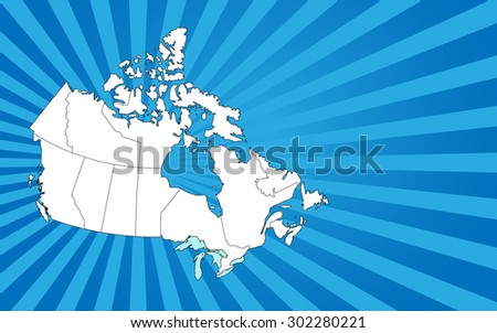 Detailed map of CANADA with separable borders in vector art. (Sizable to any dimension) - You got ALL the provinces in one file - stock vector