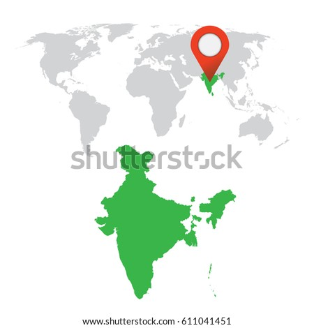 Detailed map india world map navigation stock vector royalty free detailed map of india and world map navigation set flat vector illustration gumiabroncs Images
