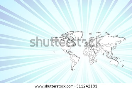 Detailed Map of The World! All Countries Included - stock vector