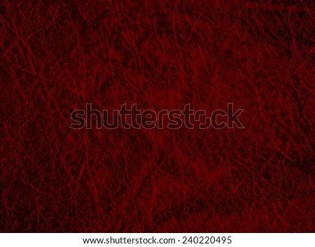 Detailed maroon leather texture background. Vector illustration - stock vector