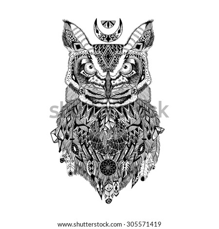 aztec owl coloring pages - photo#7