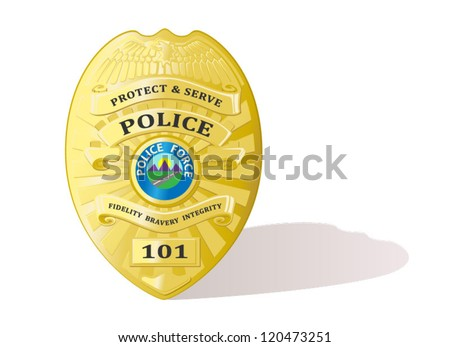 Detailed Police badge vector - stock vector