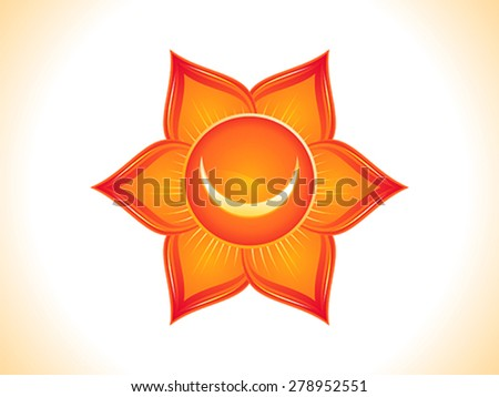 detailed sacral chakra vector illustration - stock vector