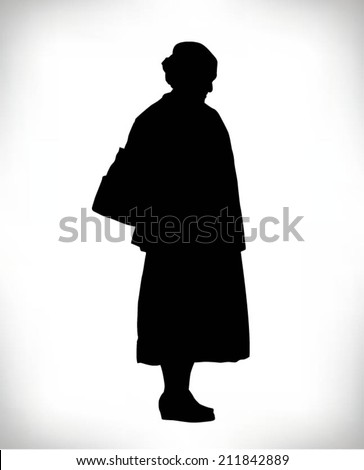 old woman silhouette stock images, royalty-free images & vectors