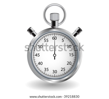 Detailed stop watch, can be used as an icon. All elements can be easily modified. - stock vector