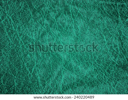 Detailed turquoise leather texture background. Vector illustration - stock vector