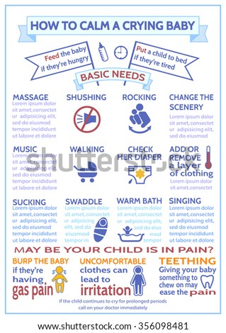 detailed vector baby child infographic presentation stock vector, Template For Children Clothing Presentation, Presentation templates