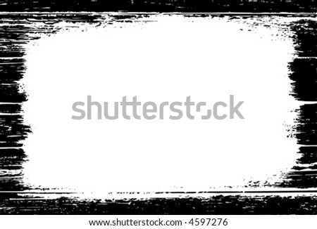 Detailed vector grunge border or frame. - stock vector