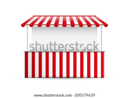 Detailed vector illustration of a stall. - stock vector