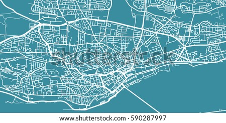 Detailed Vector Map Dundee Scale 130 Stock Vector 590287997