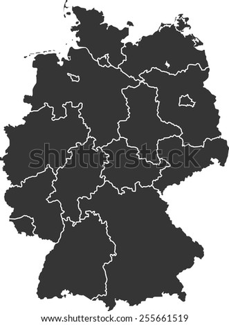Detailed vector map of the Germany