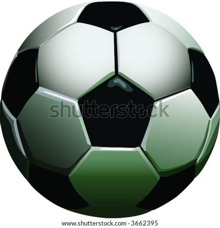 Detailed vector original football or soccerball. - stock vector