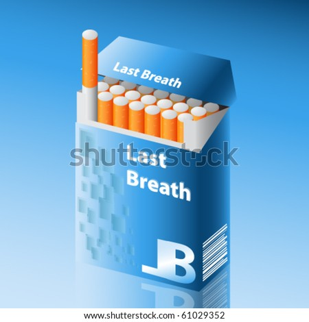 detailed vector pack of cigarettes - stock vector