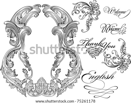 details of a vintage frame - stock vector