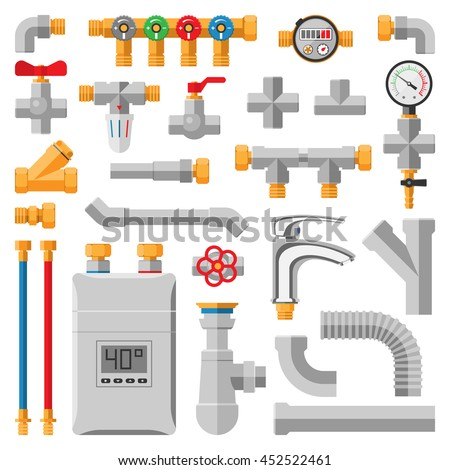 Industrial valve symbol stock photos royalty free images for Different types of plumbing pipes