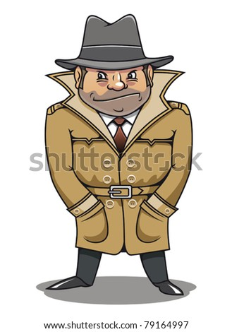 Detective agent or spy man for security or police concept design. Jpeg version also available in gallery