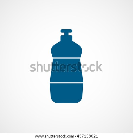 Detergent Blue Flat Icon On White Background