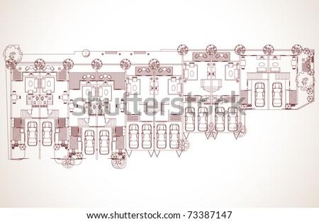 Development apartment plan  vector design - stock vector