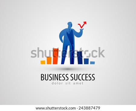 development vector logo design template. business or success icon. - stock vector