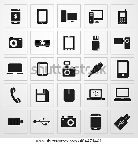 device Icon. universal set for web and mobile