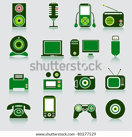 Device icons. Vector