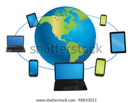 device of the world - vector illustration