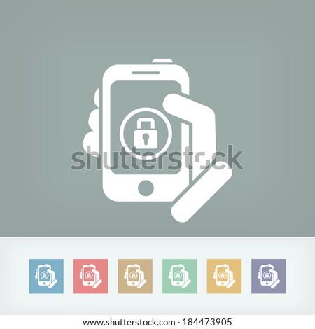 Device password - stock vector