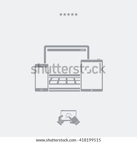 Devices series flat icon - stock vector