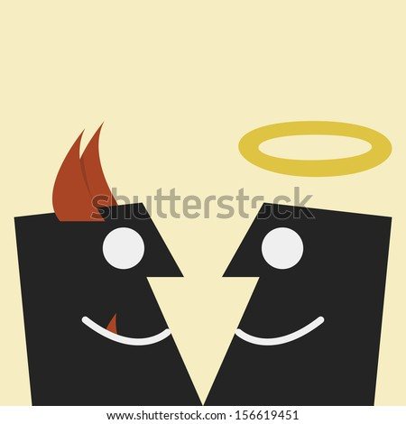 Devil and angel vector - stock vector