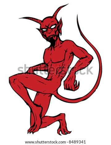 devil character - stock vector