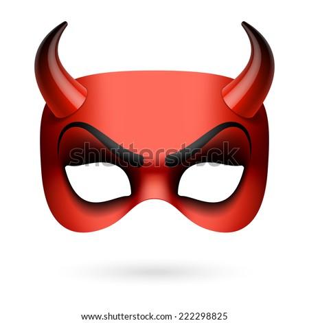 Devil mask. Vector illustration. - stock vector