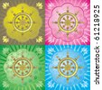 Dharmacakra - dharma wheel, main buddhist symbol	 - stock photo