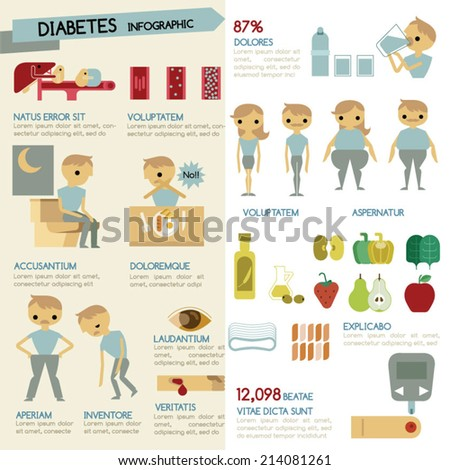 Diabetes Infographic Illustrator - stock vector