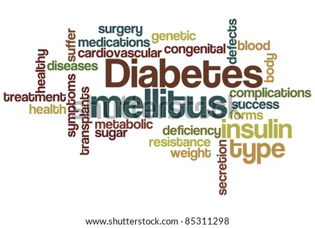 Diabetes mellitus Word Cloud - stock vector