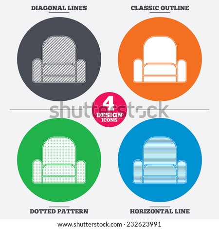 Modern Furniture Icon vector armchair icon furniture icons universal stock vector