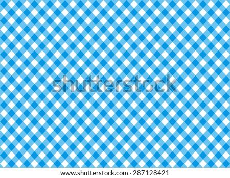 diagonal blue tablecloth seamless pattern vector illustration - stock vector