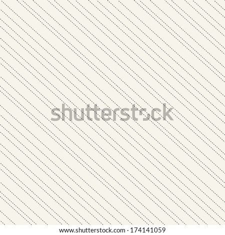 Diagonal  dashes seamless pattern in black and beige  - stock vector