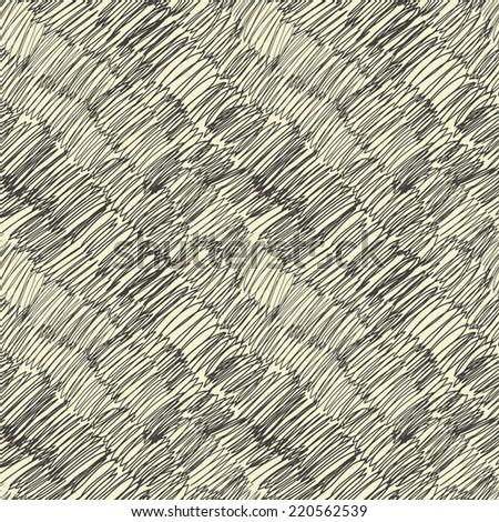 Diagonal scribble seamless pattern. Vector - stock vector