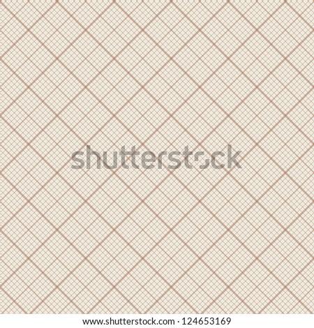 Diagonal vector seamless background - retro millimeter paper pattern - stock vector