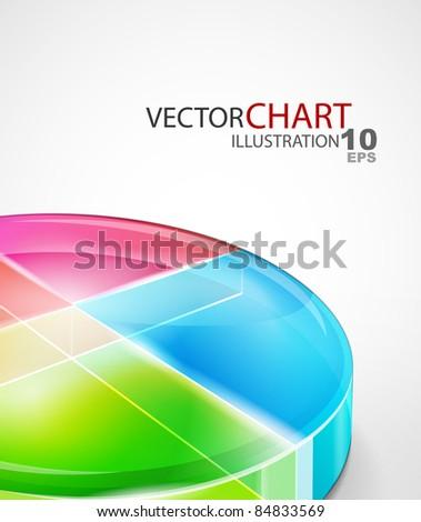 Diagram background - stock vector