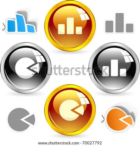 Diagram buttons. Vector illustration. - stock vector