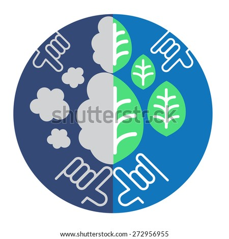 diagram depicts environment problems we can save earth with our love. environment concerned supports people to give the our love.  - stock vector