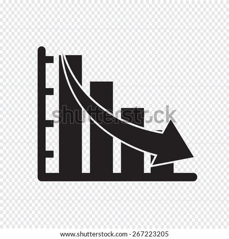 diagram graph icon - stock vector