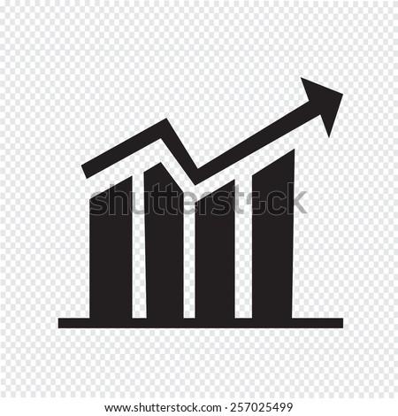 diagram icon , graphs icon - stock vector
