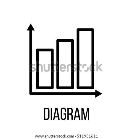 Diagram icon logo modern line style stock photo photo vector diagram icon or logo in modern line style high quality black outline pictogram for web ccuart Image collections